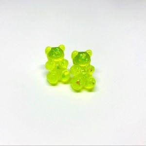 Gummy Bear Pearlized Yellow Stud Earring Handmade